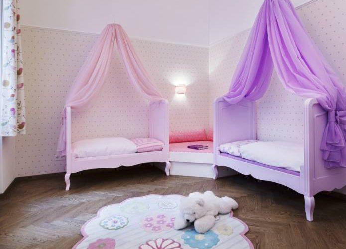 Mädchen Kinderzimmer-Prinzessinen Kinderzimmer-Rosa Lila Kinderzimmer-Kinderzimmer Design Wien