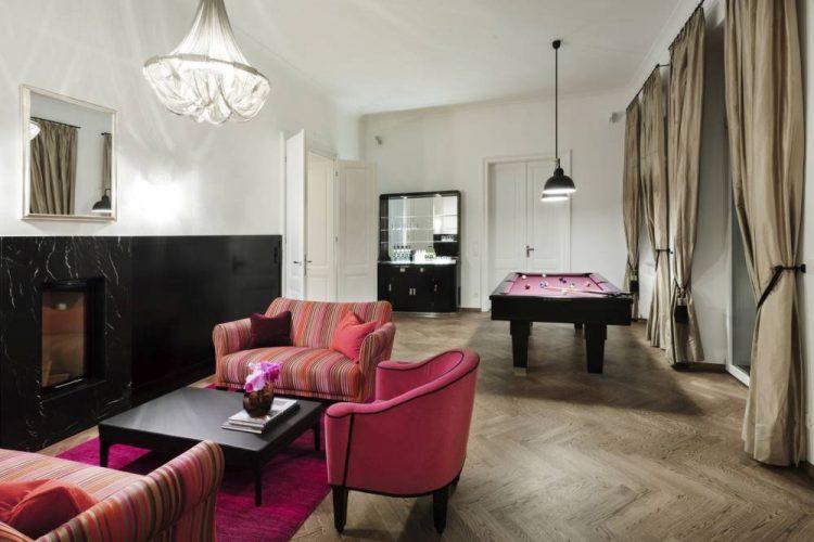 Modern Salon-Viennese Jugendstil living room-Art Nouveau living room-customised pool table-Jugendstil bar-classic style living room Vienna