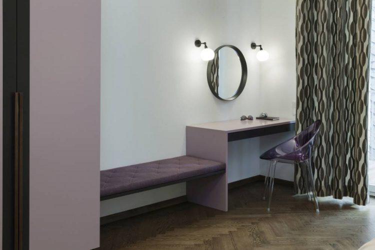 maßgefertiges Schlafzimmer Wien-Schminktisch Schlafzimmer-lila Schlafzimmereinrichtung-Einbaumöbel Schlafzimmer Wien